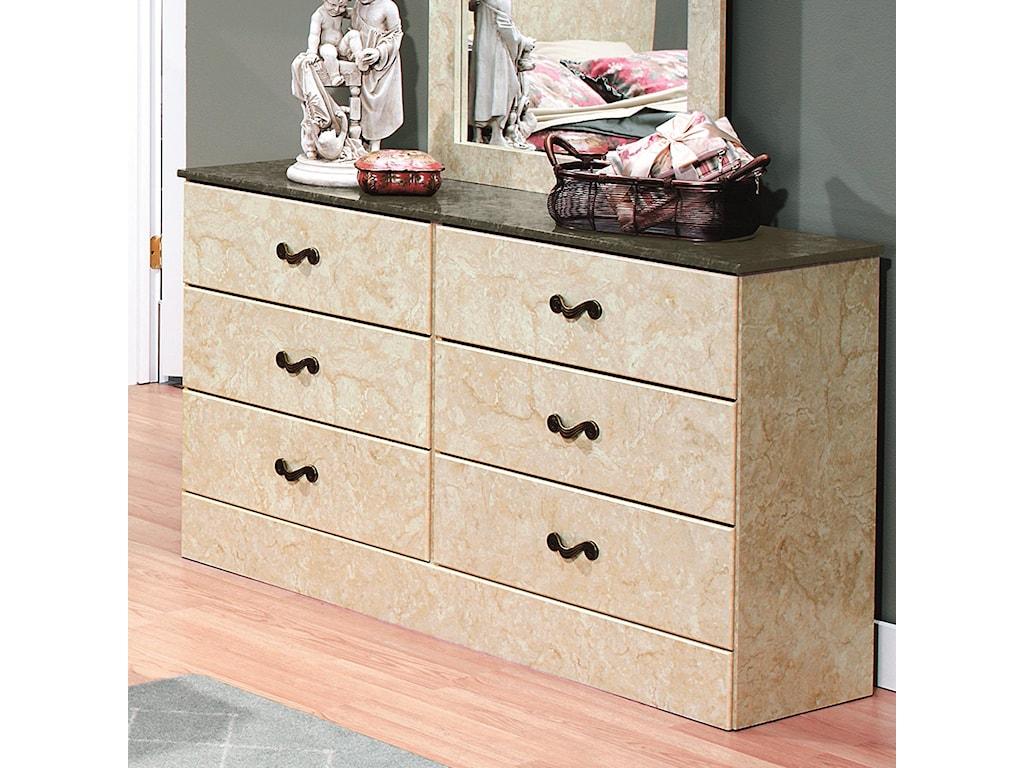 Perdue Sicilian Marble6-Drawer Dresser