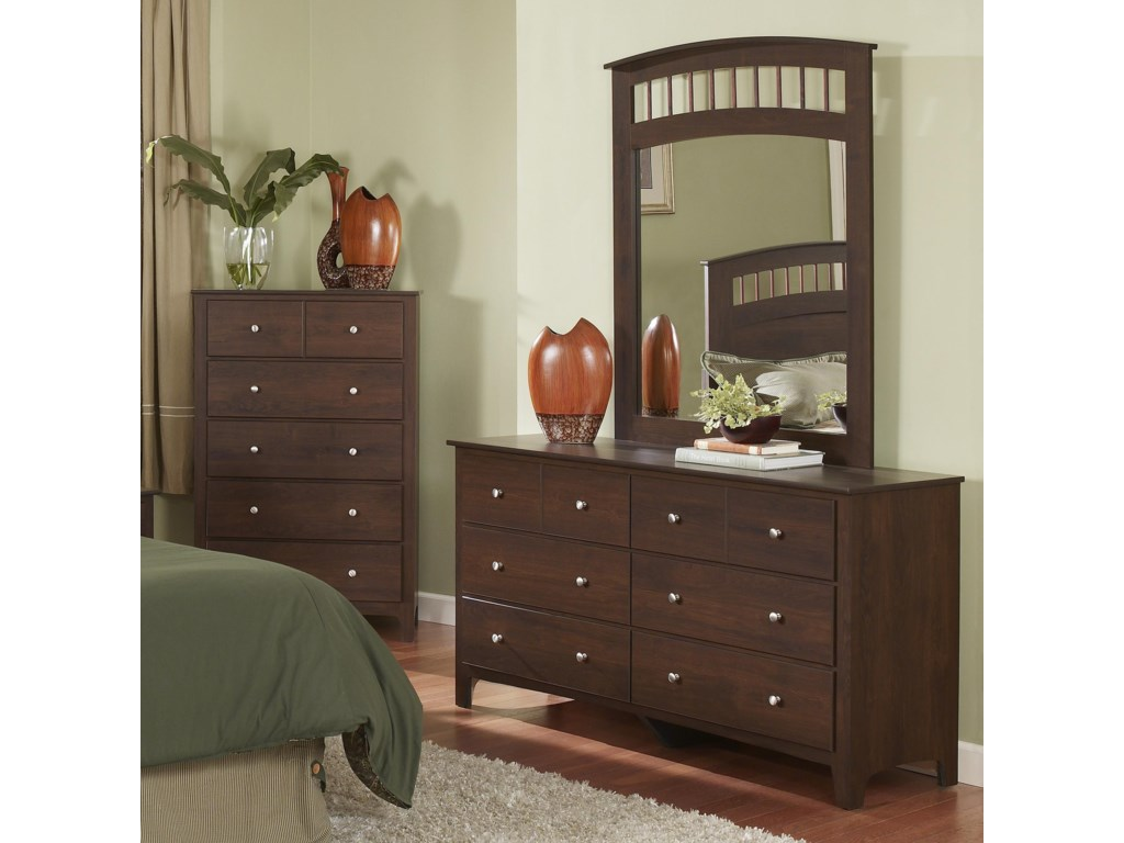 Perdue 60000 Series6-Drawer Dresser
