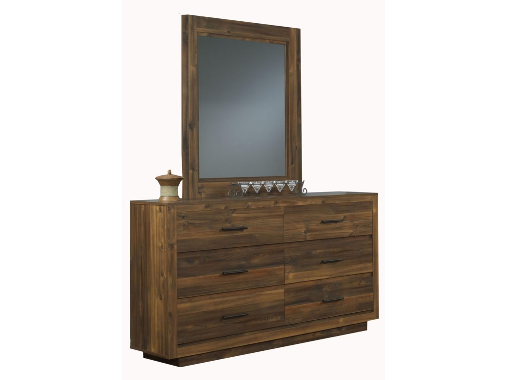 Perdue Cypress GroveDresser and Mirror Set