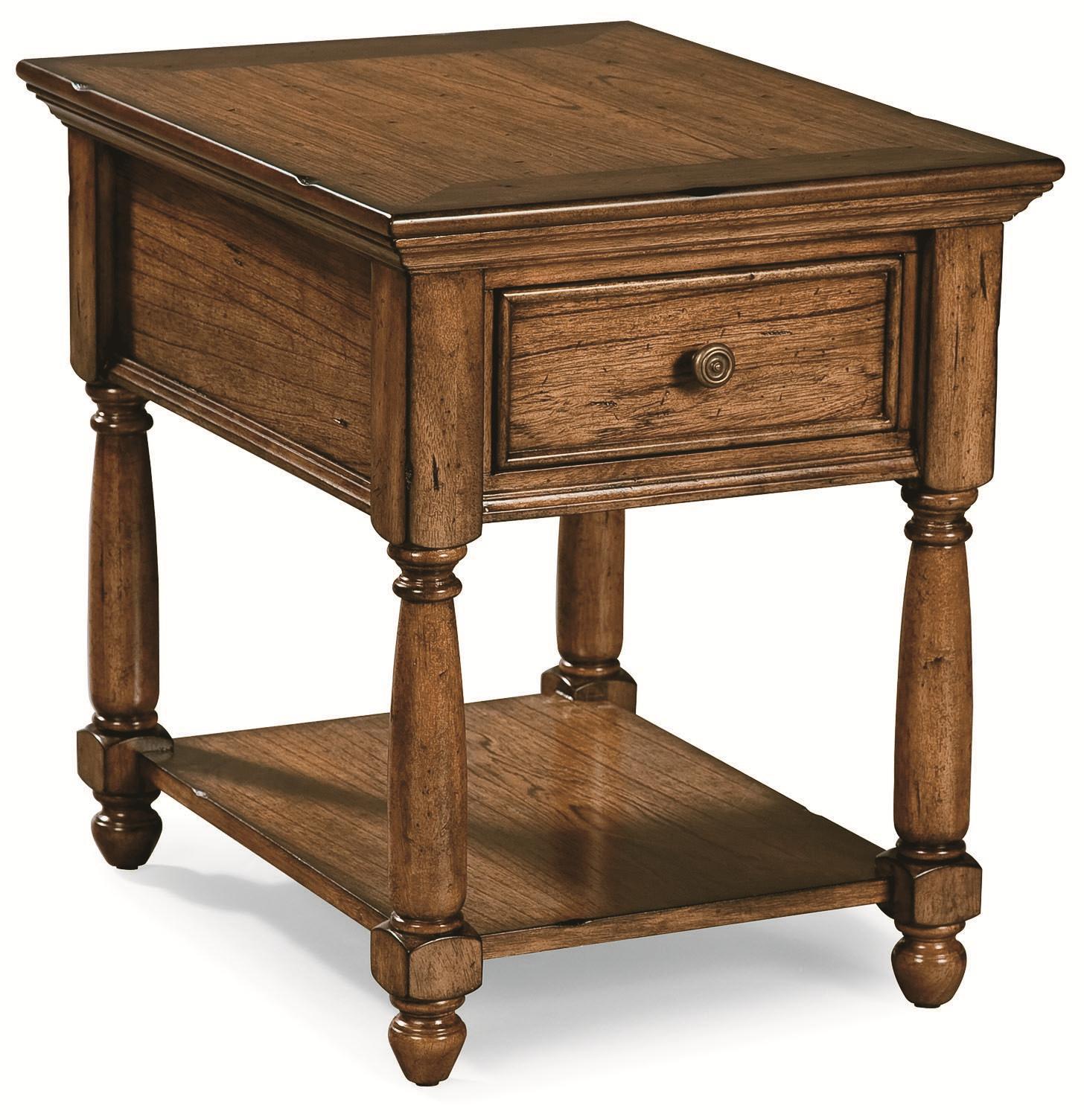Peters Revington Briarwood End Table With Drawer U0026 Shelf