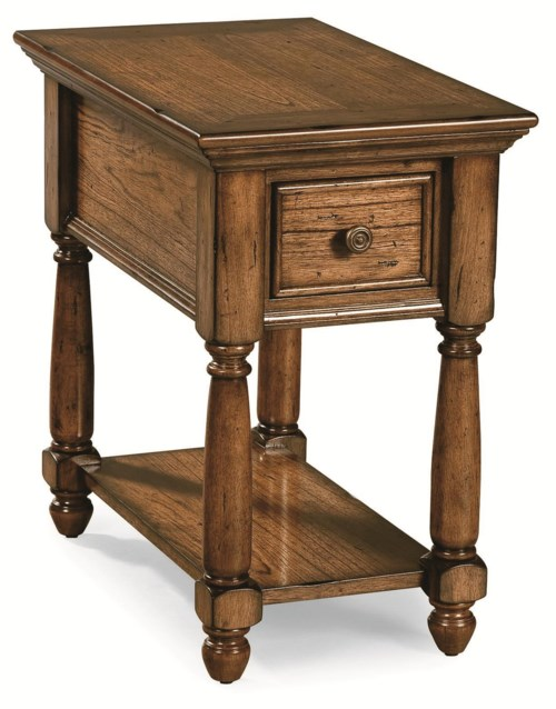 Peters Revington Briarwood Chairside Table With Drawer Amp Shelf Wayside Furniture End Tables