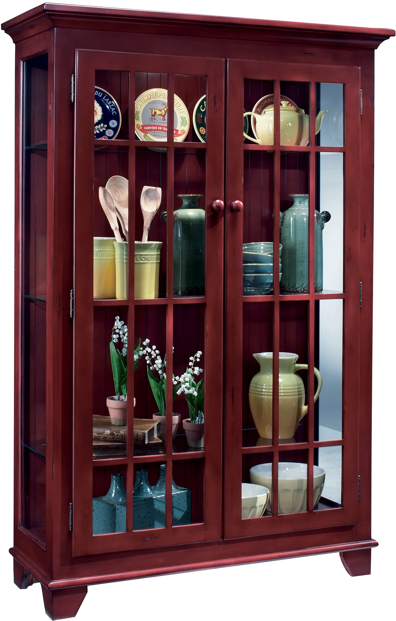 Ordinaire Philip Reinisch ColorTime   RedMonterey Two Door Display Cabinet