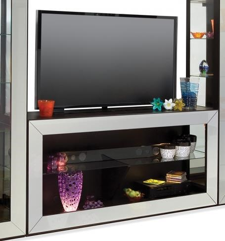 Philip Reinisch Halo Polaris Bunching TV Console with Graphite Colored Front Frame
