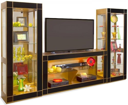 Philip Reinisch Halo Altair II Bunching Entertainment Wall Unit in Antique Gold
