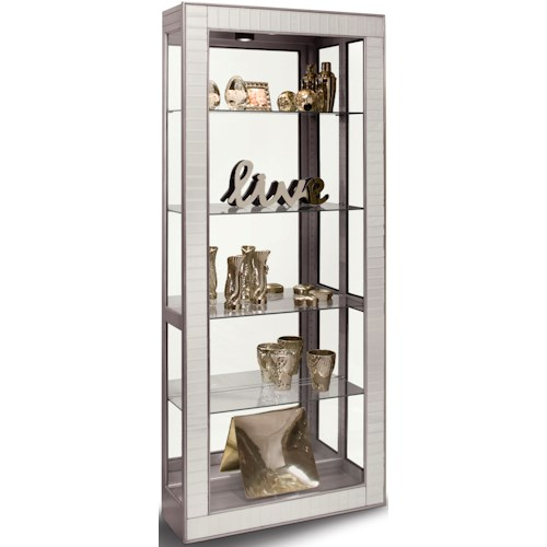 Philip Reinisch Halo Argus Accent Cabinet with Faceted Bevel Mirrored Front Frame