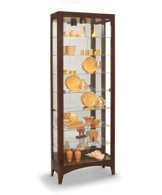 Lighthouse Curios Simplicity II Curio Cabinet With Twin Butterfly Front  Opening Doors By Philip Reinisch