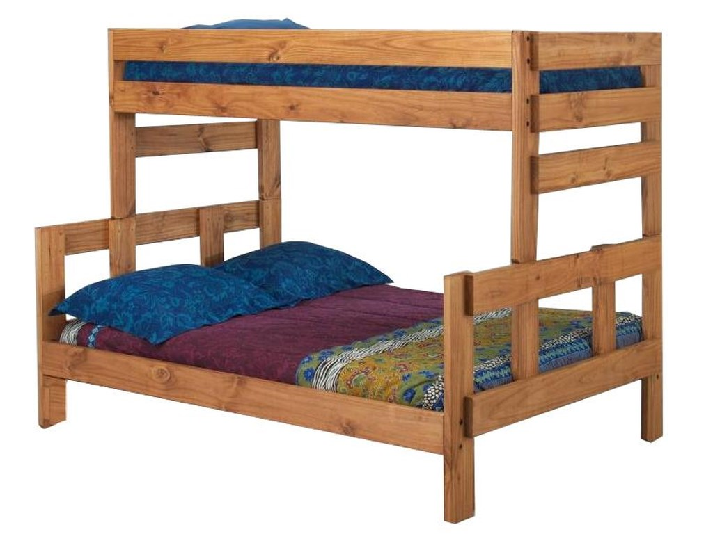 Pine Crafter Youth BedroomTwin/Full Stackable Wood Bunk Bed