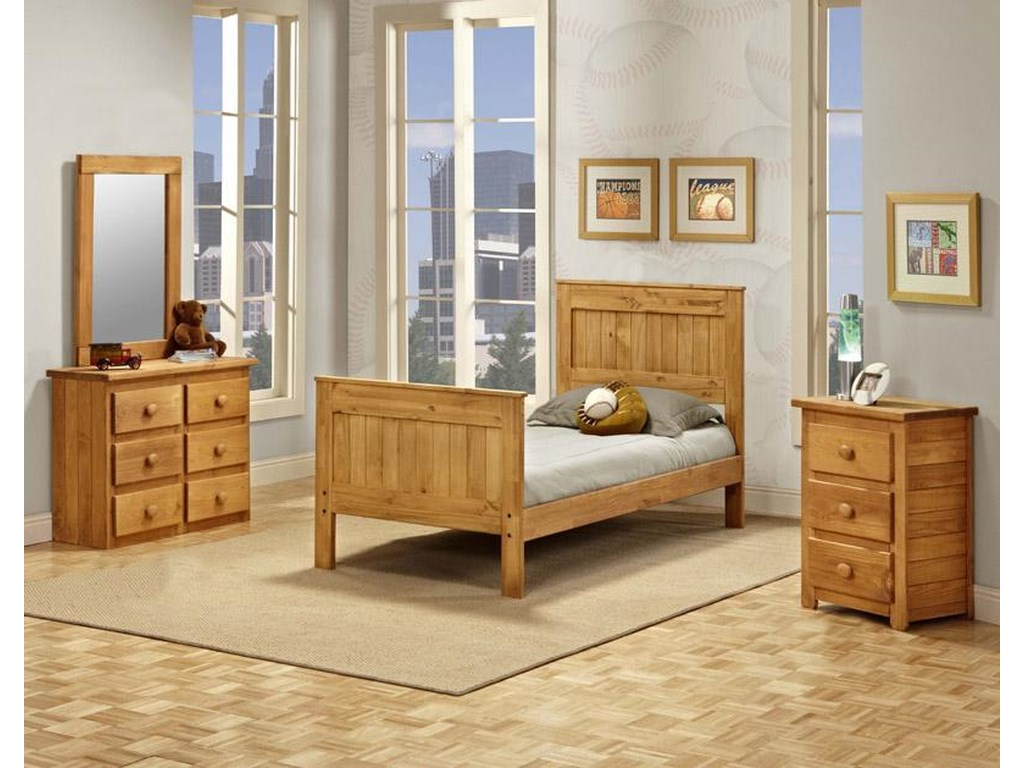 Pine Crafter Youth BedroomFull Mates Bed