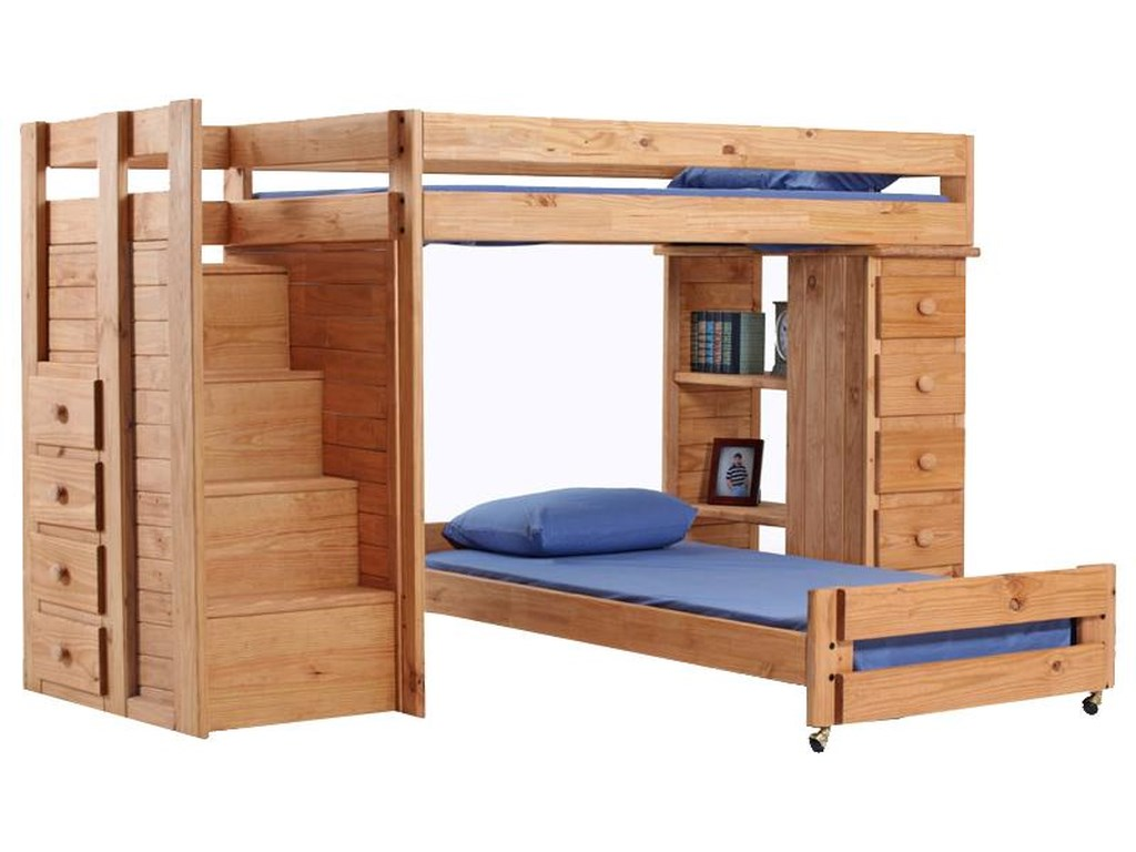 Pine Crafter Youth BedroomFull/Twin Loft Bed