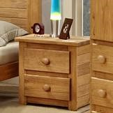 Pine Crafter Youth Bedroom Casual Solid Pine 2-Drawer Night Stand