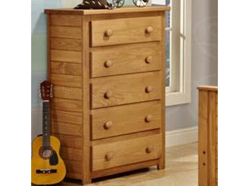 Pine Crafter Youth Bedroom5 Drawer Chest