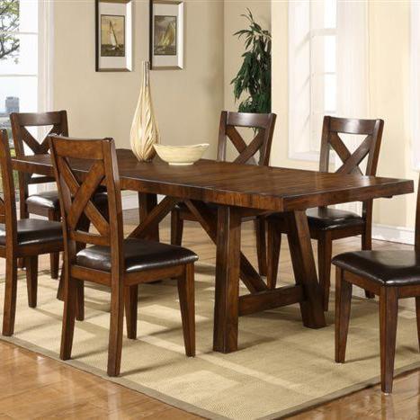 Porter International Designs Montreal Wooden Trestle Base Dining Table