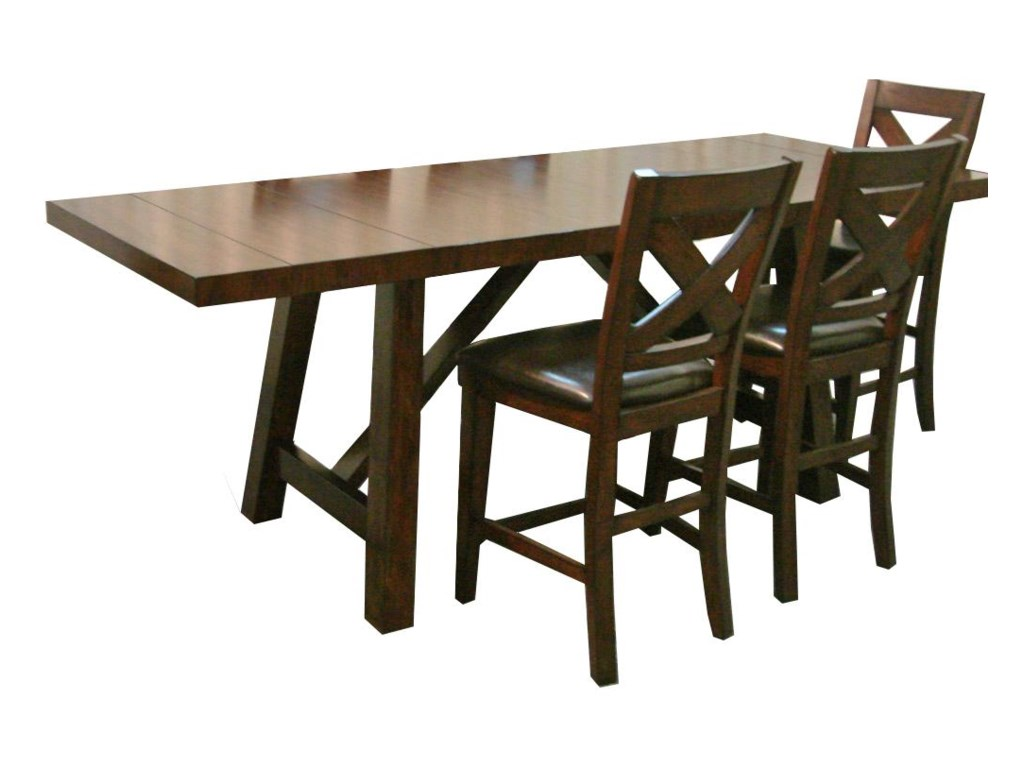 Montreal Wooden Trestle Base Gathering Table By Porter International Designs