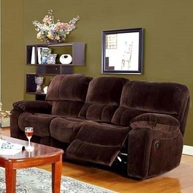 Porter International Designs Ramsey Casual Power Dual Reclining Sofa with Pillowtop Arms