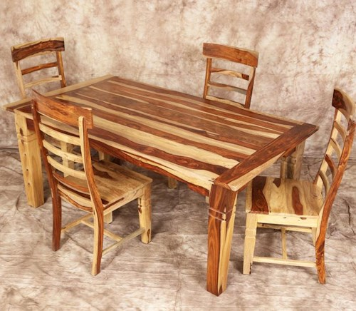 Porter International Designs Clackamas Store Only Tahoe 5 Piece Leg Table And Side Chair Set