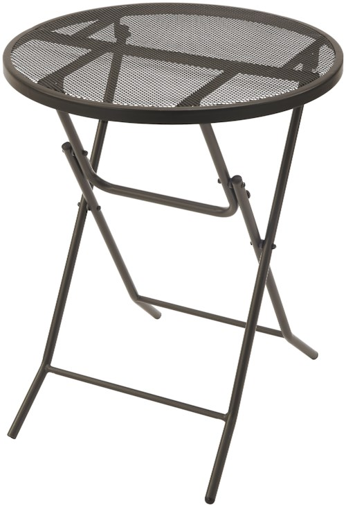 Poundex 123 Metal Folding Table with Mesh Table Top