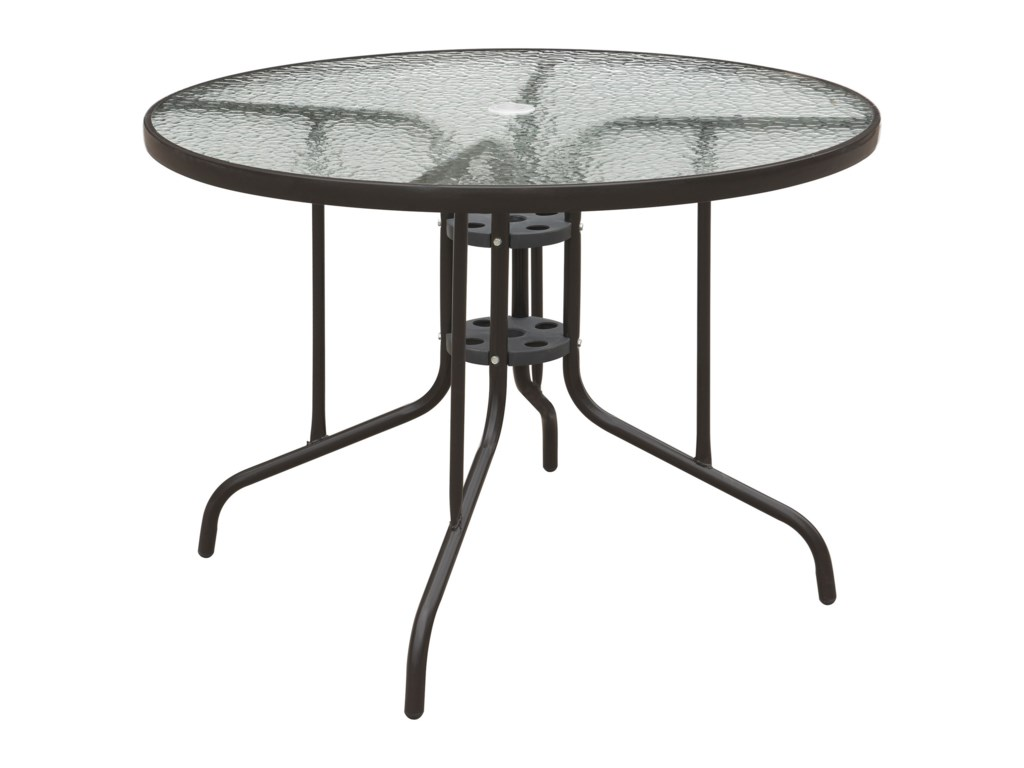 Poundex 205Glass Top Table