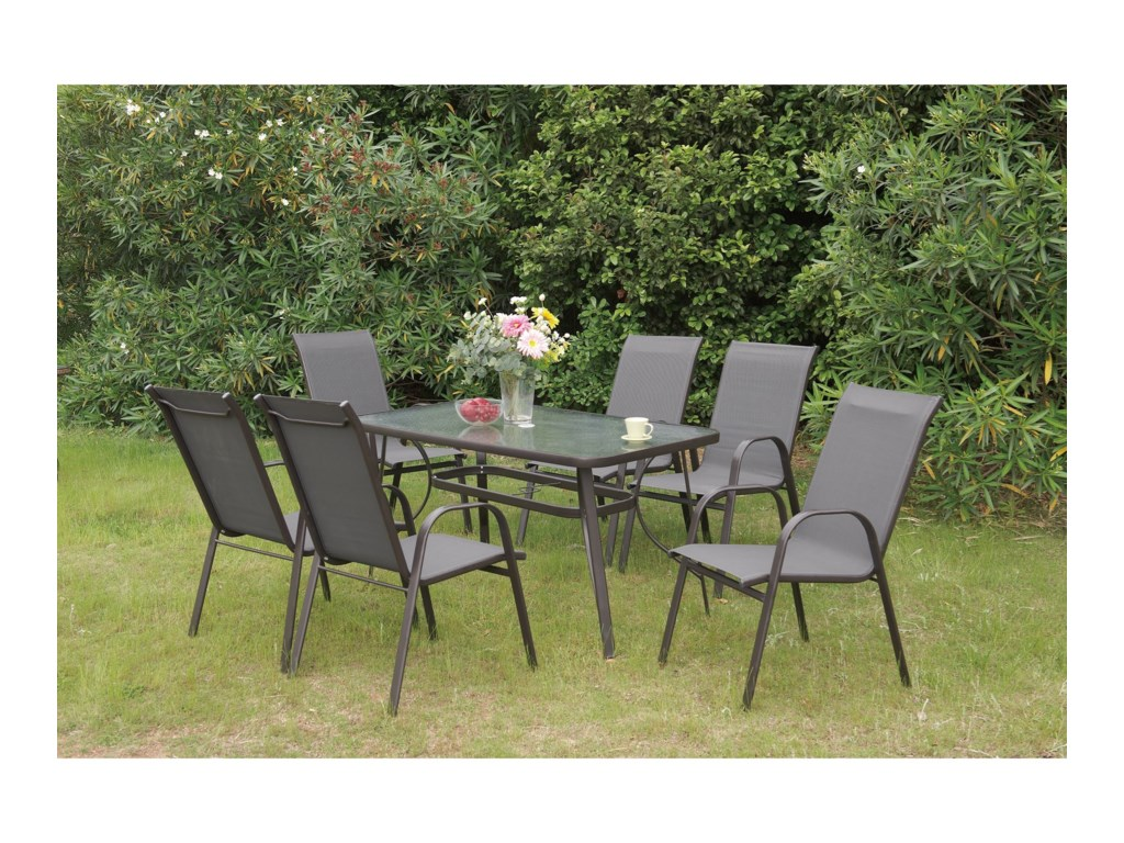 Poundex 205Outdoor Dining Set
