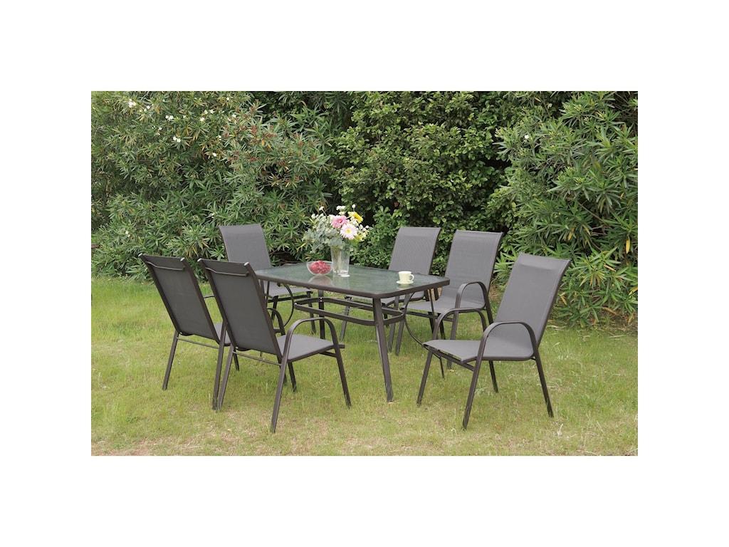 Poundex 205Rectangular Outdoor Table