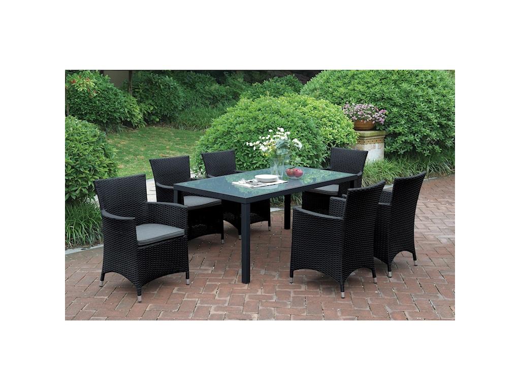 Poundex 218Dark Brown Outdoor Chair