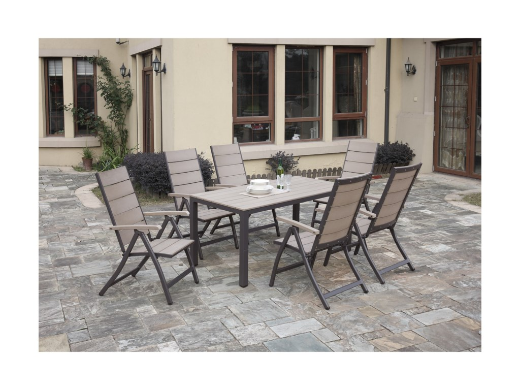 Poundex 254Outdoor Dining Set