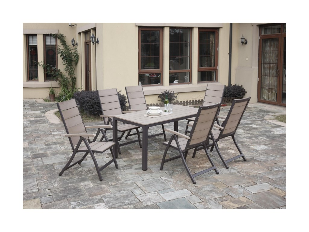 Poundex 254Outdoor Dining Table