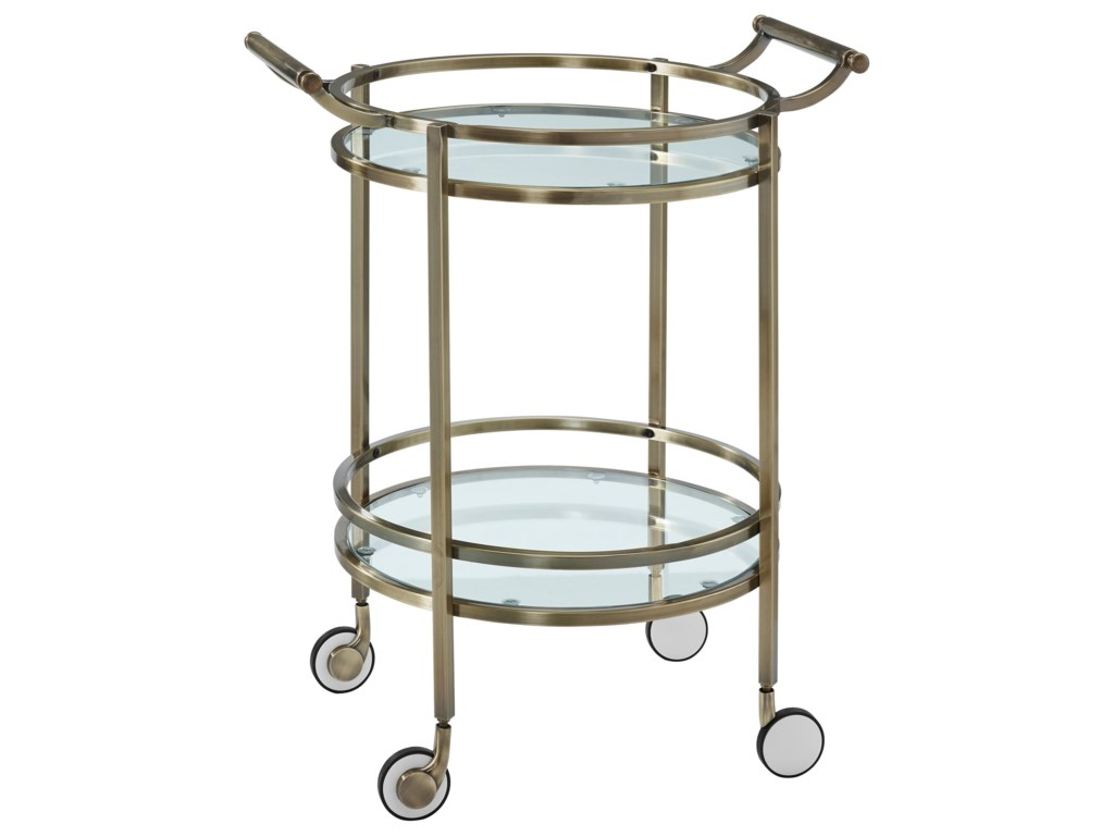 Powell Accent FurnitureAntique Brass Round Svc Cart
