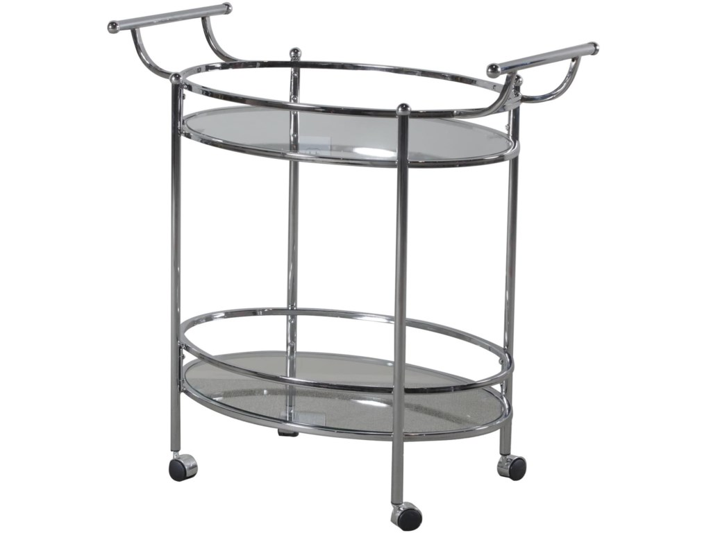 Powell Accent FurnitureChrome Service Cart