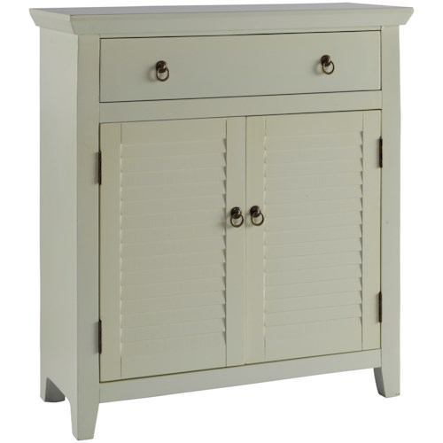 Powell Accent Furniture White Shutter Console