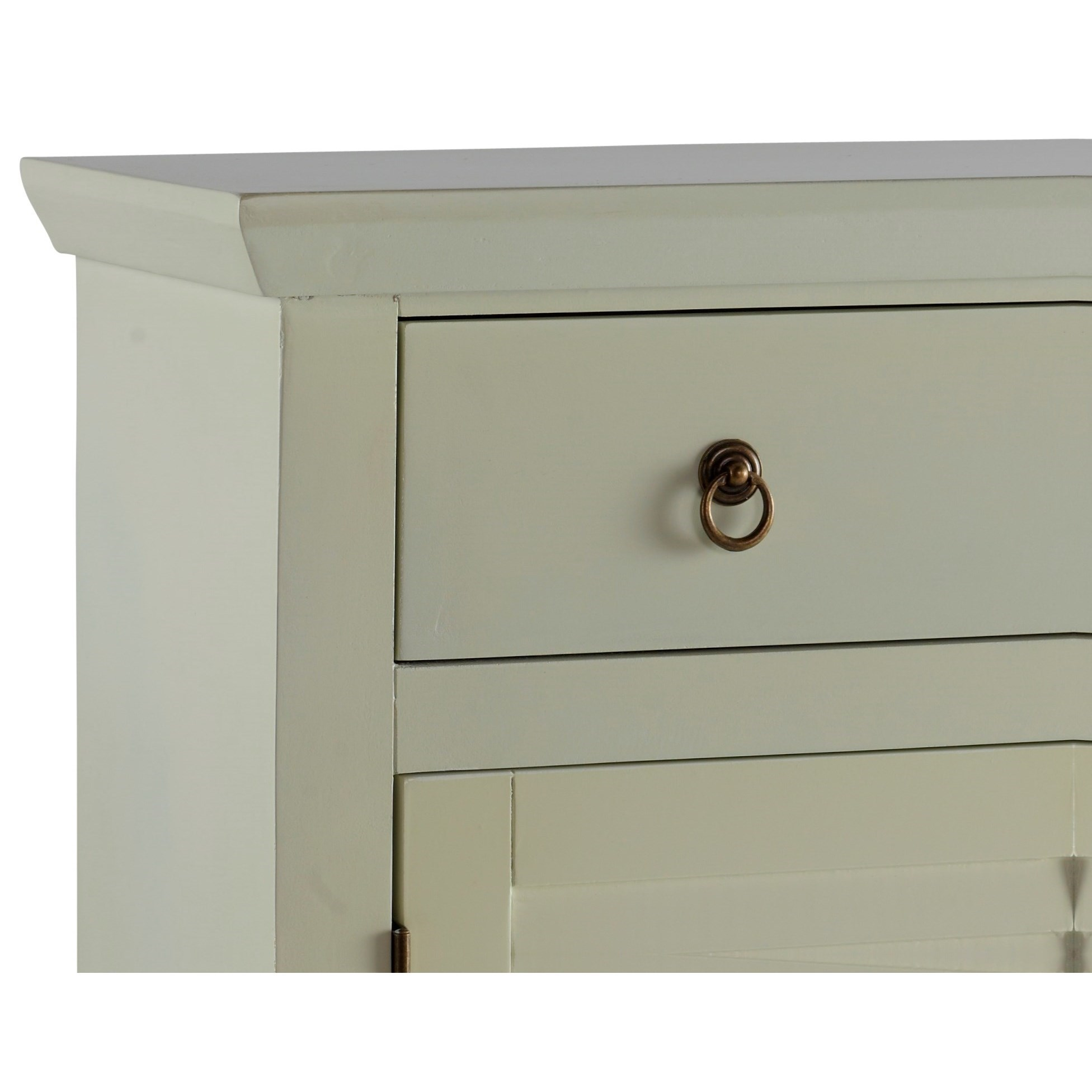 ... Powell Accent FurnitureWhite Shutter Console