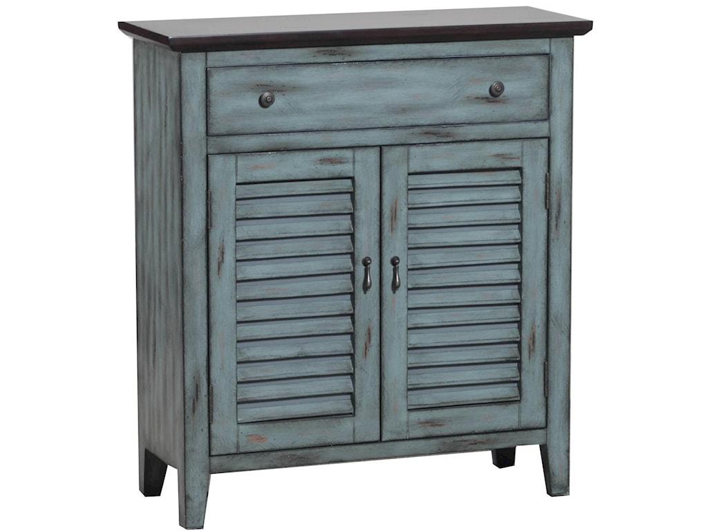 Powell Accent FurnitureTwo Tone Shutter Door Cabinet