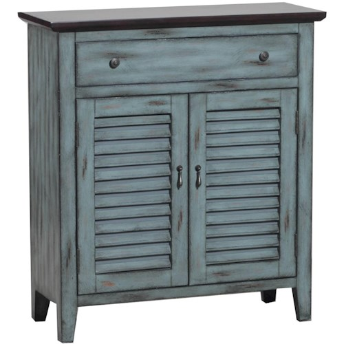 Powell Accent Furniture Two Tone Shutter Door Cabinet