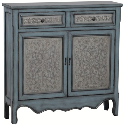 Powell Accent Furniture Antique Blue & White Console
