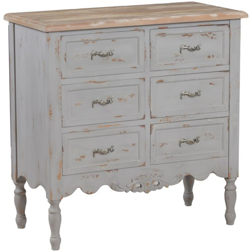 Powell Accent Furniture Piper Grey Hall Chest
