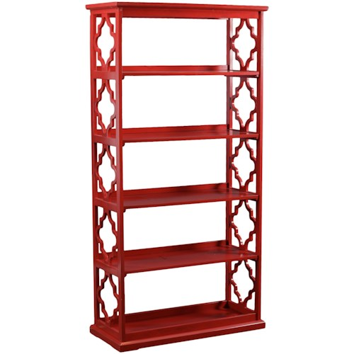 Powell Accent Furniture Turner Bookcase Red