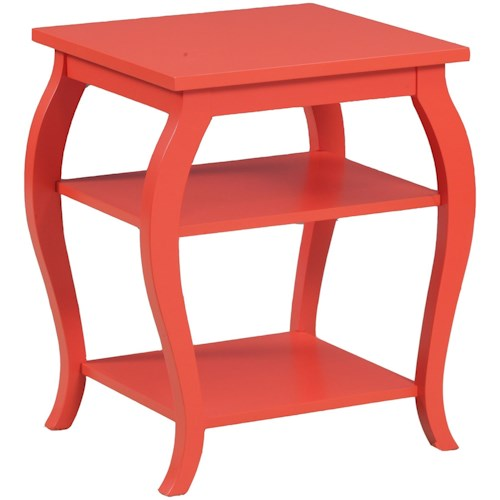 Powell Accent Furniture Panorama Orange Table