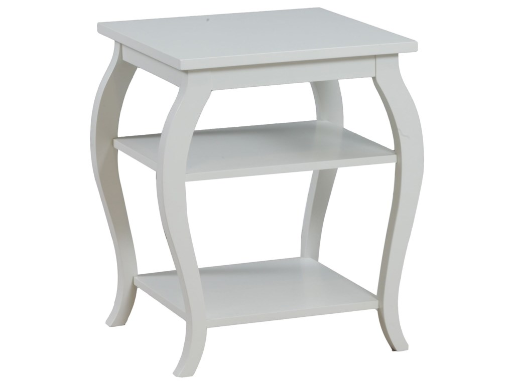Powell Accent FurniturePanorama White Table