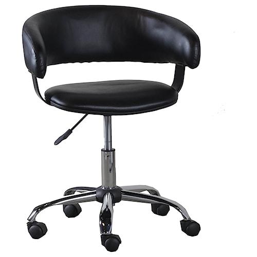 Powell Accent Furniture Black Gas Lift Desk Chair