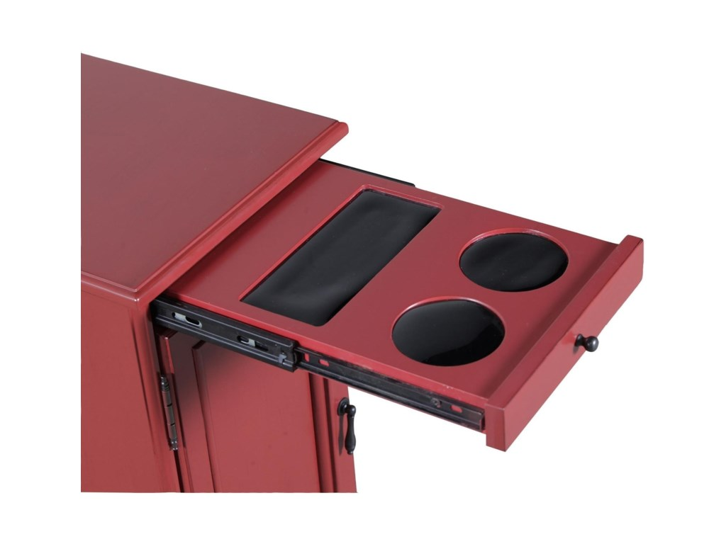 Powell Accent Furniture Butler Red Accent Table