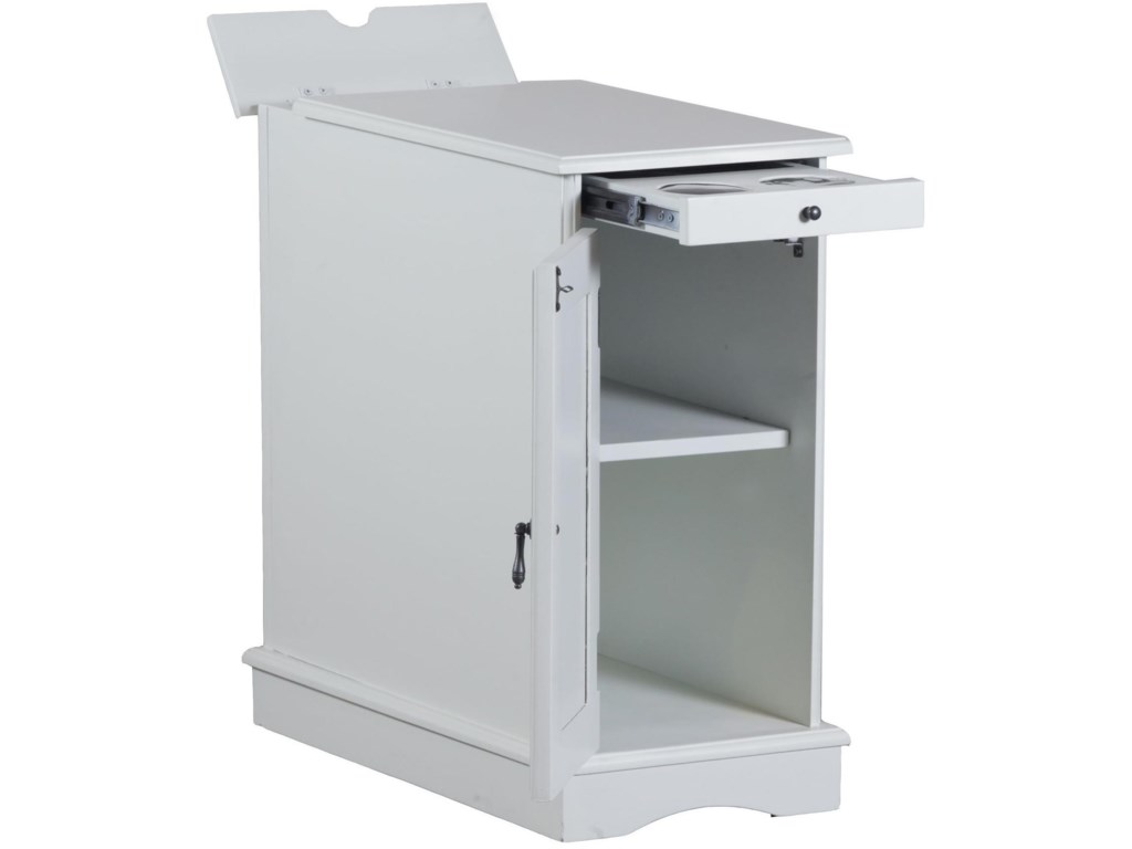 Powell Accent Furniture Butler White Accent Table
