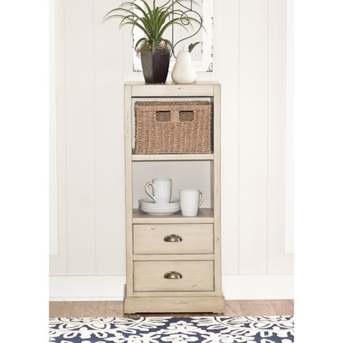 Powell Accent Furniture Currituck 1-Basket Console