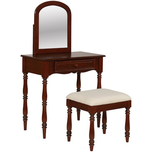 Powell Accent Furniture Chadwick Vanity with Stool