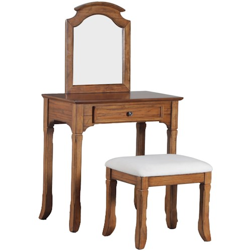 Powell Accent Furniture Vanity with Stool