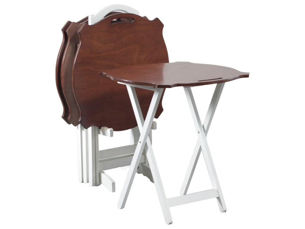 Powell Accent FurnitureLaptop White Folding Tables