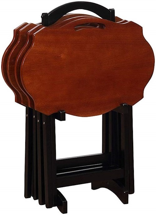 Powell Accent Furniture Serpentine Black Tray Table