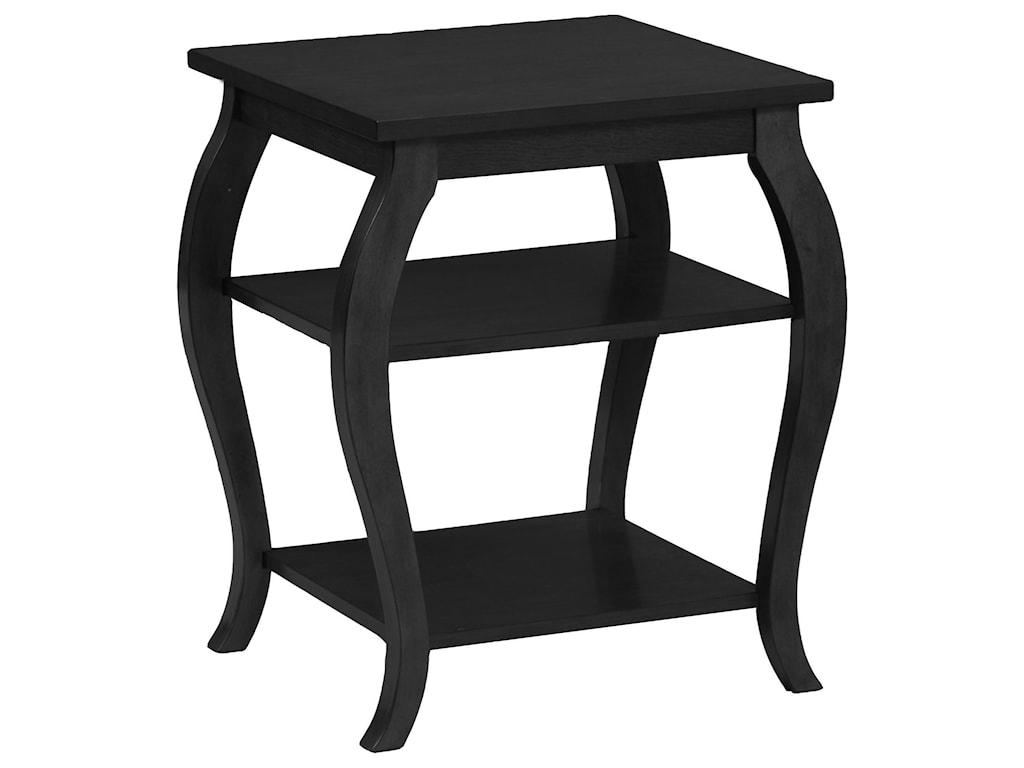 Powell Accent FurniturePanorama Black Table