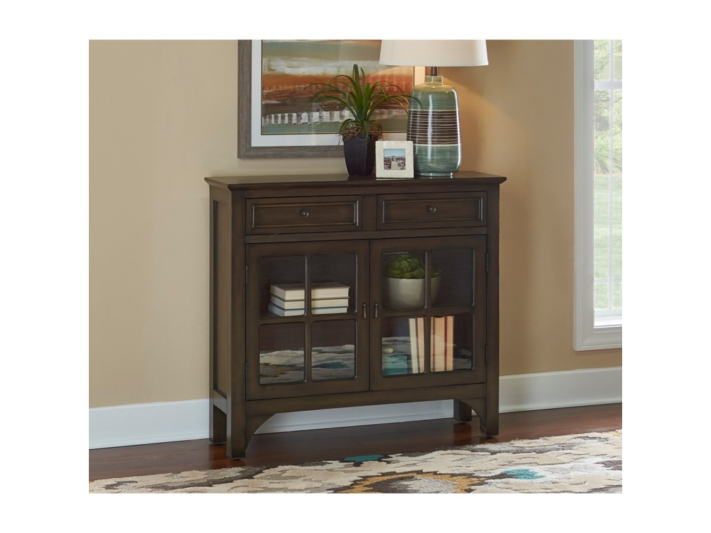 Powell Accent Furniture Campbell Grey Console