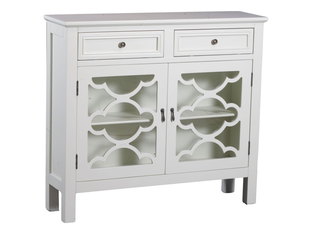 Powell Accent Furniture Canady White Slimline Console