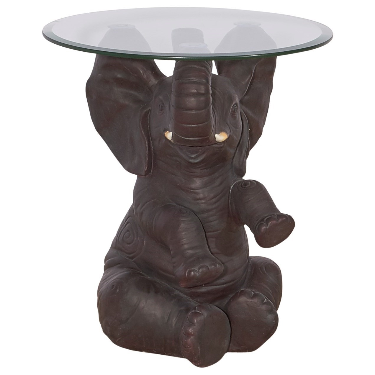 elephant side table glass top powell accent furnitureernie elephant side table furniture ernie olindes