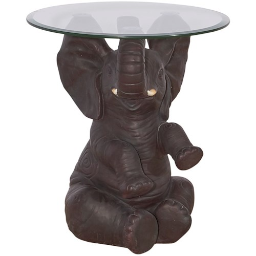 Powell Accent Furniture Ernie Elephant Side Table